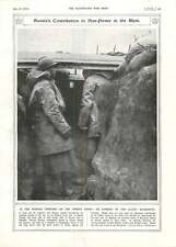 1917 Russian Trench French Front Balkans Royal Engineers Building Bridge River E