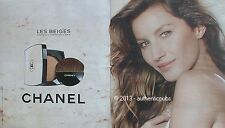 PUBLICITE CHANEL LES BEIGES POUDRE BELLE MINE GISELE BUNDCHEN DE 2013 FRENCH AD