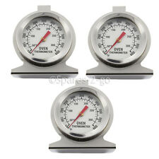 3 x UNIVERSAL Oven Cooker Temperature Gauge Thermometer Stainless Steel Analogue