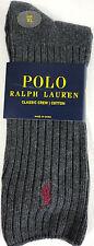 Polo Ralph Lauren Mens Socks Cotton Blend Fits Shoe Size 12-17 XL New