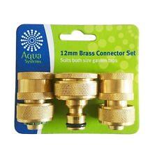 Aqua Systems Brass Hose Connector - 3 Piece Set