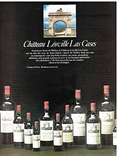 Publicité Advertising 1983 Vin Grand Cru du Médoc Chateau Léoville Las Cases