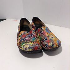 Alegria Deb 304 womens size 42 slip on multi color clog casual shoes