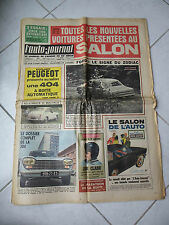 L'Auto-Journal n°385 Simca 1000 automatique Mercedes 300SE Peugeot 204 VW 1600TL