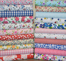 BUNDLE OF FABRIC SCRAPS OFF CUTS REMNANTS 22 PIECES POLY COTTON PATCHWORK CRAFT