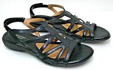 Women's Naturalizer N5 Comfort Strappy Sandal Shoes Black Leather 7.5 Narrow EUC