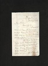 signed 1857 letter Charles H Warren, President of Boston & Providence RR * Nason