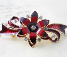 60MM crystal resin Flower hair barrette clip Hairpin  SF318