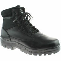 MENS GRAFTERS INSULATED COMBAT BOOTS SIZE UK 3 - 13 SECURITY BLACK M870A KD