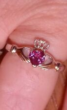 .60 CTW GENUINE  COLOR CHANGE LAB CREATED RUSSIAN ALEXANDRITE CLADDACH RING SZ 8