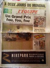 L'Equipe Journal 8/06/1998; A 2 jours du Mondial/ Roland Garros/ Pantani