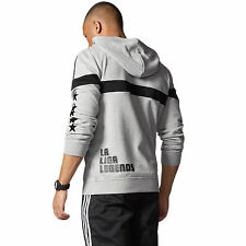 Adidas Originals Mens Real Madrid FC Hoodie/Track Top Grey Size M Chest 38-40""