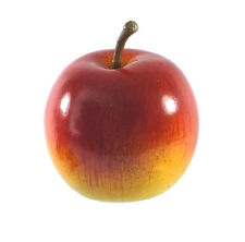 Artificial Gala Cameo Apple Large Plastic Fruit Round Red Yellow Apples Fake