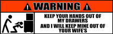 Warning Stickers Keep Out of Tool Box Drawers Mechanics Funny Decals (2 PACK) 62