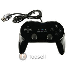 New Black Pro Classic Game Controller Remote For Nintendo Wii US Ship