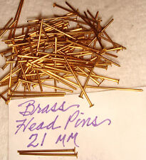BRASS HEAD  PINS 3/4  INCH    VINTAGE STRONG AND STRAIGHT   21 G    100 PCS
