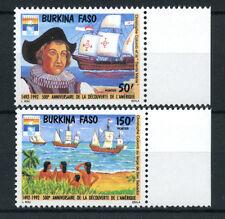 1992 - BURKINA FASO - LOTTO/19599 - SCOPERTA AMERICA 2v. - NUOVI