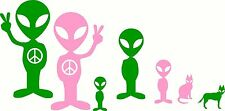 Alien Stick Family Car Decal!  *Any Color! bumper sticker