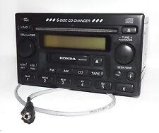 Honda 98-02 Accord Radio - AM FM 6 CD Cassette w Aux Input - 39100-S84-A300 1TA1