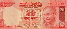 INDIA 20 Rupees 2007 P96b UNC Banknote '777' serial #