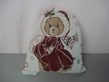 """USA Made NWOT Christmas 12"""" x 15"""" Tapestry Throw Pillow #335"""
