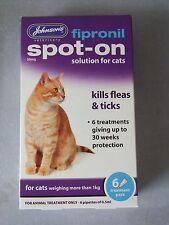 Johnson's Fipronil Spot On Para Gatos 30 semanas-publicada hoy si paga antes de 13: 00