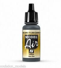 Vallejo Model Air Dark Grey Blue RAL7024, 71.054  17ml Acrylic Airbrush Paint