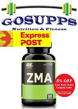 ON Optimum Nutrition ZMA 90 Capsules Night time Recovery Zinc FREE EXPRESS POST