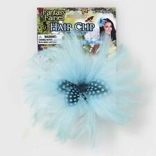 Blue Fairy Hair Clip Feather Pixie Fancy Dress Up Halloween Costume Accessory