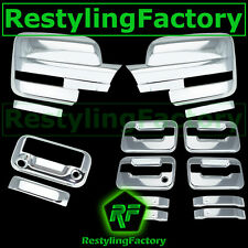 09-14 Ford F150 Chrome Mirror+4 Door Handle+no KYP no K.H+ Tailgate Camera Cover
