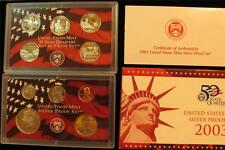 2003-S SILVER Proof Set 10 piece set NIB with COA