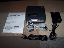 Sony D-36 Discman CD Player / Working / Paperwork / AC Adapter / Working