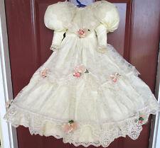 Doll Clothes 4 Piece Ensemble Williamsburg Lady Anne Dress Hoop Pantaloons Socks