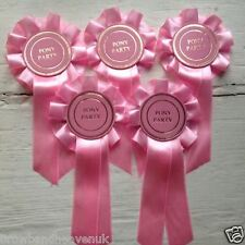 Set of 5 Pink Pony Party Rosettes.  Brand New.
