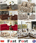Stretch Fit Sofa Cover Lounge Couch Easy Removable Slipcover Washable Red mocha