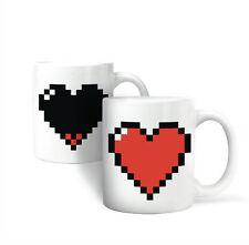 TAZZA Cuore Nuovo/Scatola Originale Morphing MUG pixel Design Tazza da caffè ceramica effetti termici