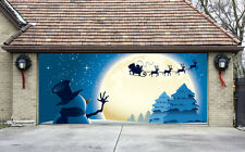 Christmas Garage Door Covers 3D Banners Outside House Decorations Billboard G40