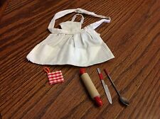 "Vintage Barbie ""What's Cooking"" Outfit Barbie Clothes Apron Rolling Pin etc."