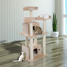 PawHut Cat Tree Tower Condo Furniture Kitty Pet Scratching Post W/ Condos