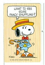 "Single Playing Cards Pin Up ""Peanuts, Snoopy"" Hallmark 1607 Q"
