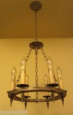 Vintage Lighting three matching 1920s Spanish Revival chandeliers