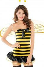 SEXY FLIRTY YELLOW & BLACK BUSY BEE FANCY DRESS COSTUME SET ONE SIZE FITS 6-10