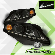 For 2010 2011 2012 Lexus RX350 SUV LED Projector Black Headlights HeadLamps Pair