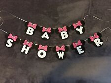"Minnie Mouse ""Baby Shower"" Banner. Polka Dot Bows"