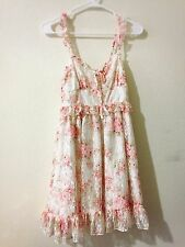 Liz Lisa Floral Print Pattern Lace Dress Kawaii Lolita Harajuku Japan Gyaru