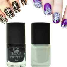 2Pcs/Set Born Pretty Nail Art Stamping Polish Black White Nail Stamp Varnish 6ml
