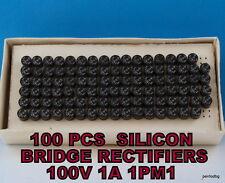 100 PCS SILICON  BRIDGE RECTIFIER 100V 1A 1PM1  IRPS  ROMANIA  ORIGINAL BOX  NOS