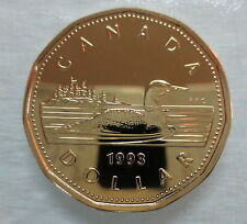 1993 CANADA LOONIE PROOF-LIKE ONE DOLLAR COIN