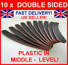 10 DOUBLE SIDED 100/180 GRIT BOOMERANG/BANA​NA CURVED NAIL FILES UK EMERY BOARD