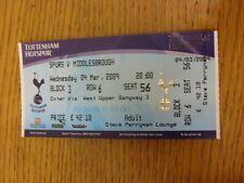 BIGLIETTO 04/03/2009: Tottenham Hotspur v Middlesbrough. grazie per la visualizzazione è il nostro